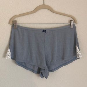VICTORIA'S SECRET PJ Shorts with Lace NWT